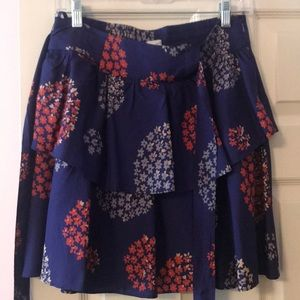 EUC Anthropologie odille tiered skirt